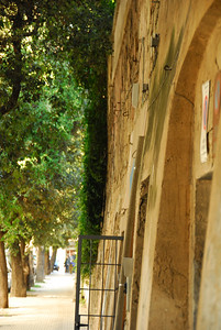 The old city wall of Lecce