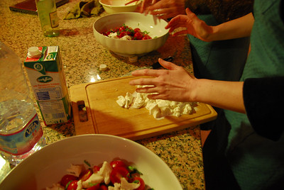 That nice round mozzarella has a center of cream that will make a yummy scrumptious insalata caprese