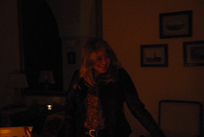 Corinne enjoys the party