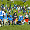 The boys tykes division start at the Rainbow Classic cross-country run organized by Spruceland elementary school Thursday afternoon in Rainbow park.  Citizen photo by Brent Braaten