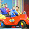 The Wiggles, left to right Jeff Fatt, Murray Cook, Anthony field and Sam Moran,  entertain over 2300 fans at CN Centre on Saturday. They preformed all their popular songs from their latest album The Wiggles Go Bananas.  Citizen photo by Brent Braaten