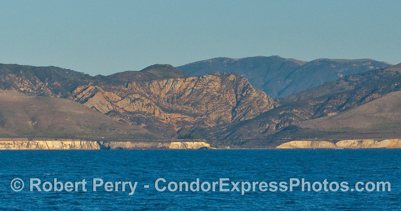 Gaviota State Beach and Gaviota Pass from about 6 miles offshore (using a 300mm lens and some cropping).