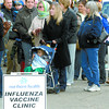People line-up for the H1N1 Influenza vaccine clinic at 325 Brunswick Street Tuesday morning.  Citizen photo by Brent Braaten