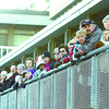 Hundreds lined the new railing of Veteran's Plaza at the Prince George City Hall. Citizen photo by David Mah
