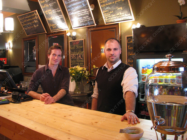 Citizen staff photo Eoin Foley, left, and Garret Fedorkiw are the new owners of Nancy O's, a new restaurant downtown at 1261 Third Avenue.