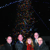 Dan Wingham, Integris Credit Union, Bruce Kirk, Salvation Army, Leona Watt, Warmac Ventures, Paul Robison, Coast Inn of the North, and Ron Polillo, Jim Pattison Broadcast Group, light up the Salvation Army Tree of lights on top of the coast Inn of the North Wednesday evening. For every $5 donation to the Salvation army a bulb is lite. Citizen photo by Brent Braaten