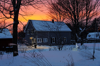 Sunset after the snowstorm.