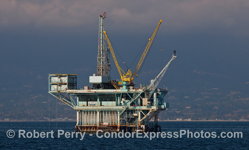 Oil Platform A in the afternoon sun.