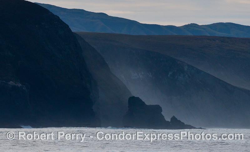 Sea cliffs, Santa Rosa Island.