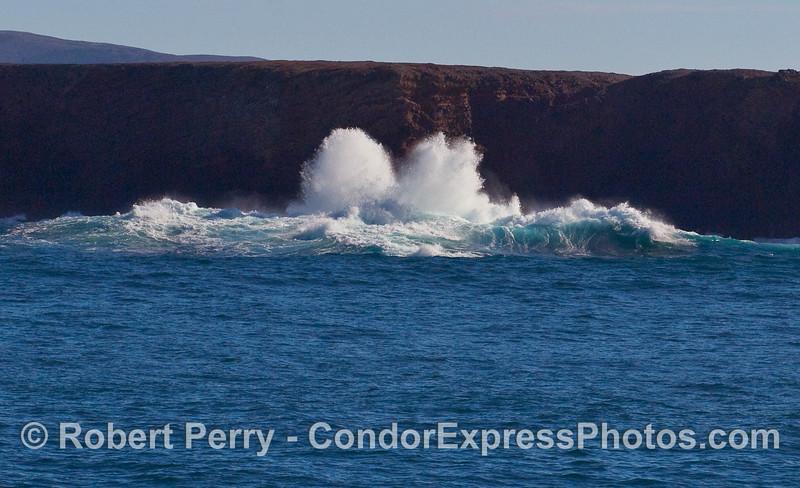 More big crashing waves - Santa Cruz Island.