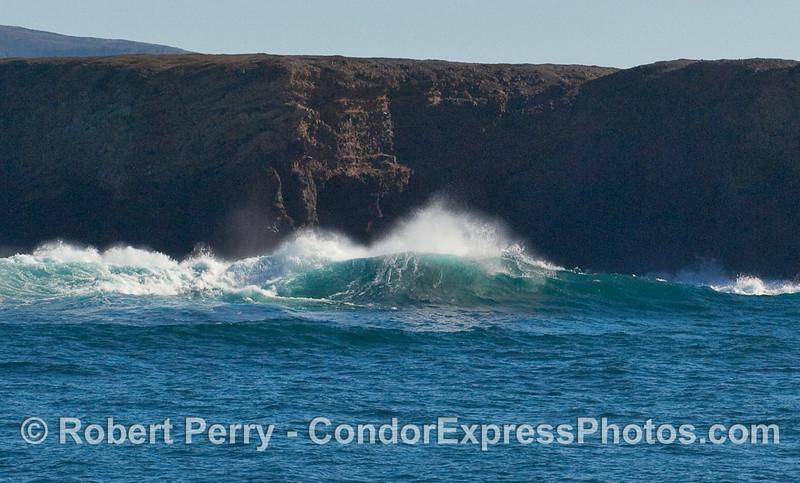 More big crashing waves and spray - Santa Cruz Island.