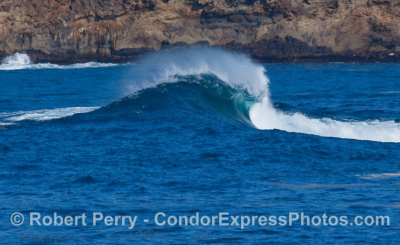 Blue wave, Santa Cruz Island.