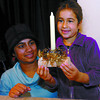 Nini Long, and her daughter Nini, 6, proudlly look at the centre piece they made at the Festival of Trees. Citizen photo by David  Mah