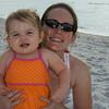 Anna and Tessa on the beach