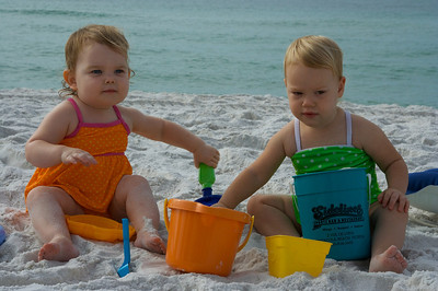 Anna and Wendy loved playing in the sand