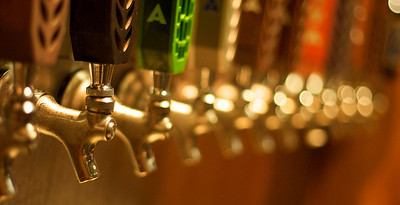 The business end of the Abita taps.