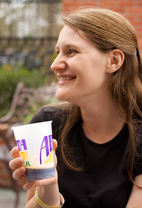 Amanda at the Abita Brewery.
