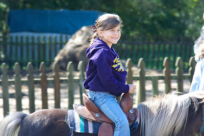 Beth's pony ride was the highlight of her trip.