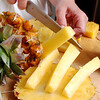 Cutting the pineapple