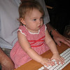 Anna playing on Grandpa's computer