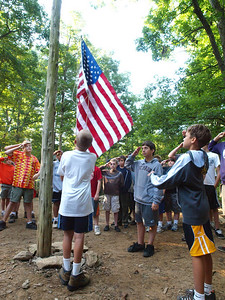 Campsite flag ceremony