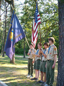 Troop 456's color guard.