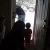 watching Daddy shovel