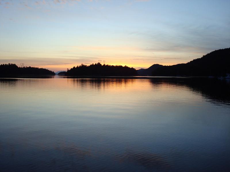 sunset at Montague Harbor