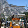 our view out our companionway at Princess Louisa Inlet