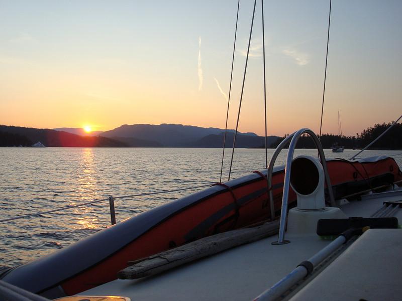 sunset at Rebecca Spit
