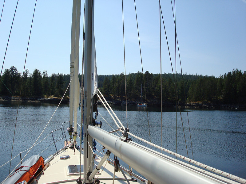 sharing the anchorage at Octopus Islands with just one other boat