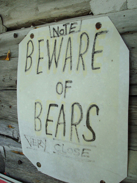 yeah right, there's no bears here