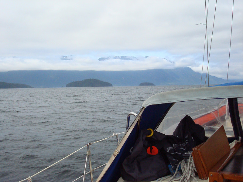 approaching Johnstone Strait from Sunderland Channel
