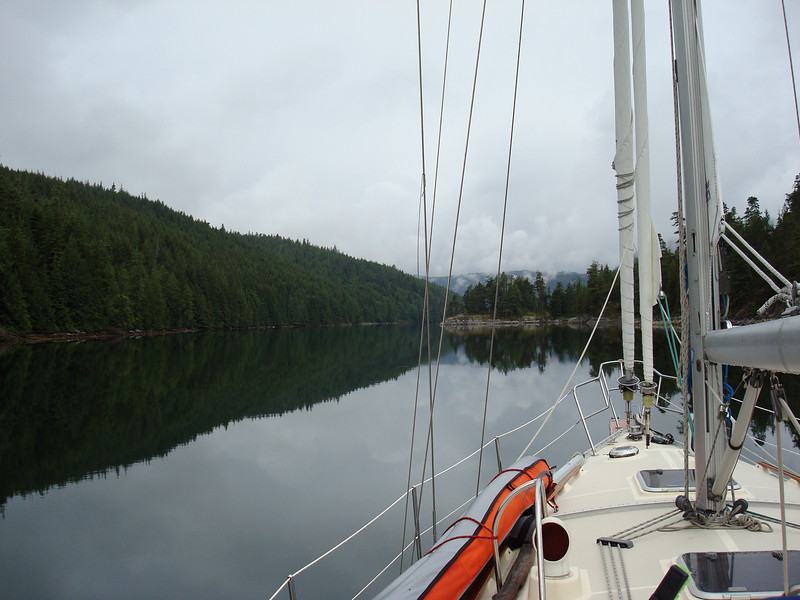looking towards the outlet of Cracroft Inlet