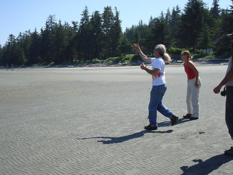 Bocce on the beach