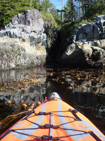dipping the bow of our kayak into some cool spots