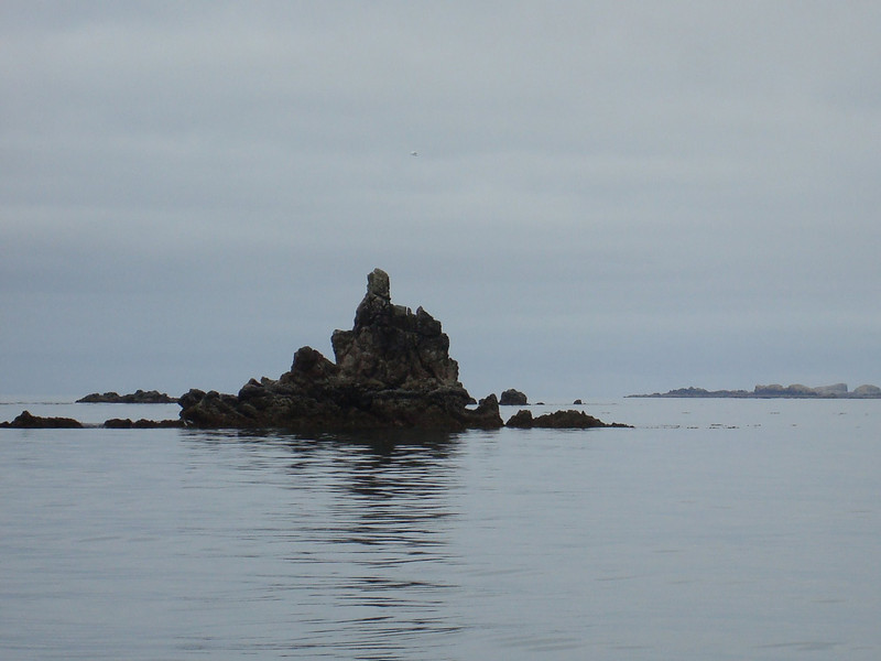 "this spiky bastard is Grogan Rock, which marks the entrance to ""Clear Passage"" which snakes behind the Barrier Islands"