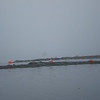 """this is the breakwater """"entrance"""", we fit with about 2 feet to spare on either side"""