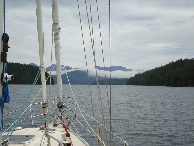 heading down Tahsis Inlet