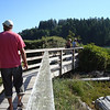 walking the boardwalk in Bamfield