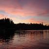 sunset over Bamfield