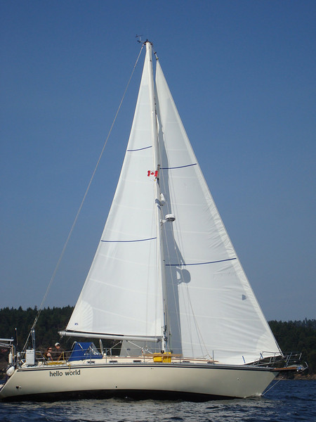 Hello World sailing up wind
