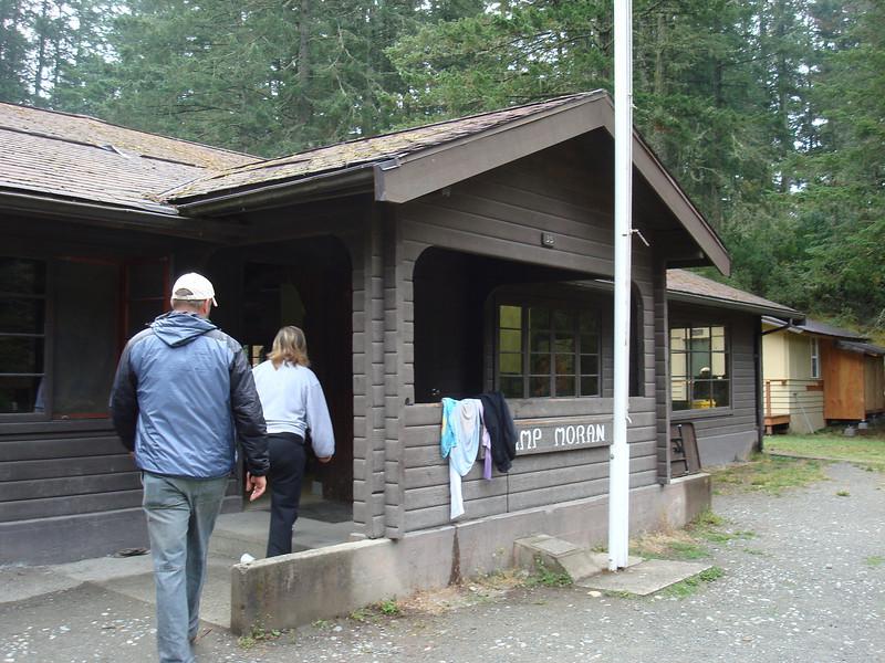front entrance to the lodge at Camp Moran
