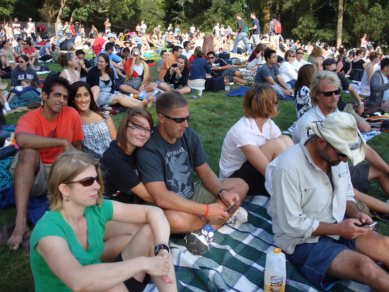 the group hanging out on the lawn at the Now and Zen Fest