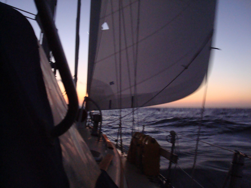 Sailing around Point Conception.