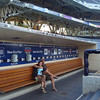 sitting in the visitor's dugout
