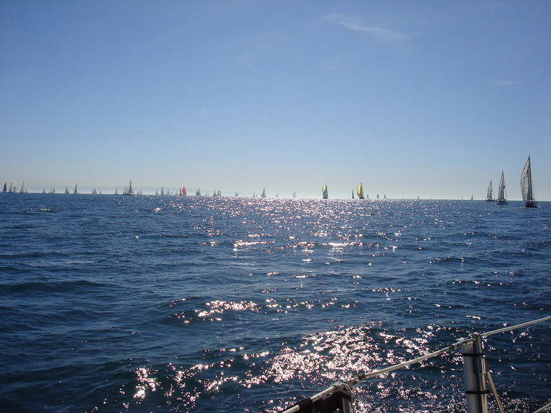 the Baja Ha Ha fleet at the start line