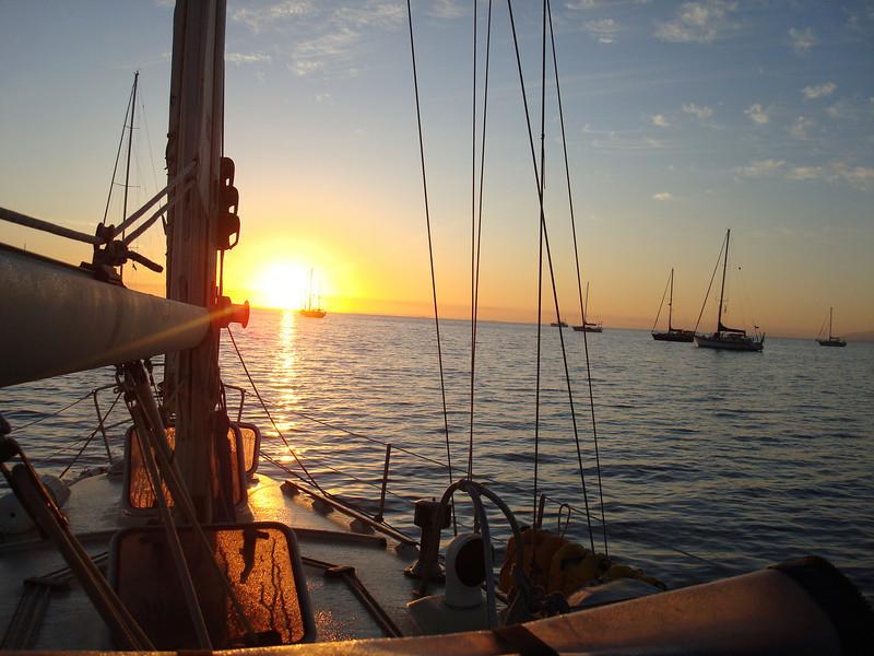 sunrise in Bahia Santa Maria