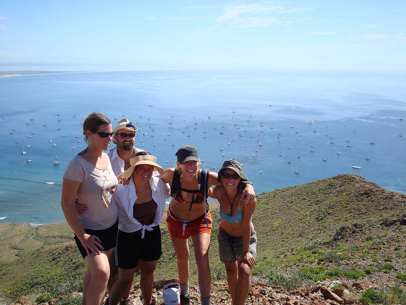 Kim, Jason, Christy, Sarah and Kristin at the top