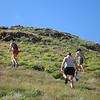 hiking up to the ridgetop